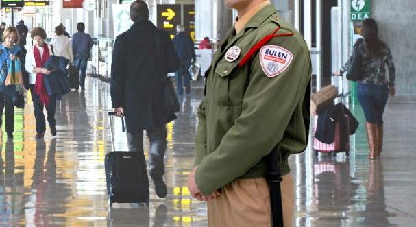 UGT denuncia en la Inspección de Trabajo a Eulen Seguridad por no dotar de uniforme a sus 63 trabajadores